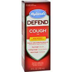 HGR1608785 - Hyland'sHylands Homepathic Cough Syrup - Defend - 4 fl oz