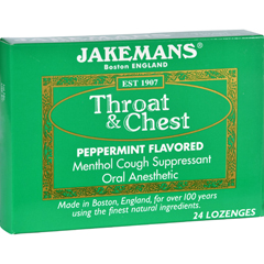HGR1609197 - JakemansLozenge - Throat and Chest - Peppermint - 24 Count