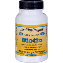 HGR1611318 - Healthy OriginsBiotin - 10,000 mcg - 60 Vcaps