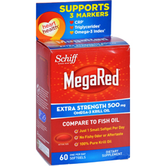 HGR1611557 - Schiff VitaminsOmega 3 Krill Oil - MegaRed - Extra Str - 500 mg - 60 Softgels