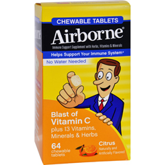 HGR1611789 - AirborneChewable Tablets with Vitamin C - Citrus - 64 Tablets