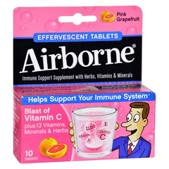 HGR1611839 - AirborneEffervescent Tablets with Vitamin C - Pink Grapefruit - 10 Tablets