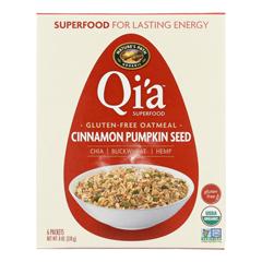 HGR1612274 - Nature's Path - Organic QiA Superfood Hot Oatmeal - Cinnamon Pumpkin Seed - Case of 6 - 8 oz..