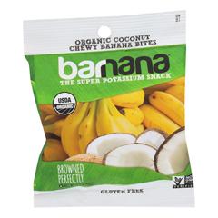 HGR1613900 - Barnana - Organic Chewy Banana Bites - Coconut - Case of 12 - 1.4 oz.