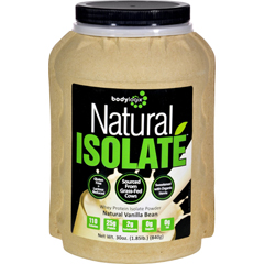 HGR1614924 - BodylogixIsolate Powder - Natural Whey - Vanilla Bean - 1.85 lb