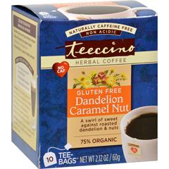 HGR1615574 - TeeccinoCoffee Tee Bags - Organic - Dandelion Caramel Nut Herbal - 10 Bags