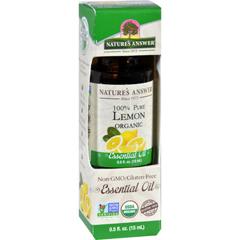 HGR1620004 - Nature's AnswerNatures Answer Essential Oil - Organic - Lemon - .5 oz