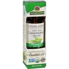 HGR1620020 - Nature's AnswerNatures Answer Essential Oil - Organic - Lemongrass - .5 oz
