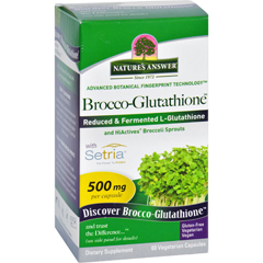 HGR1620194 - Nature's AnswerNatures Answer Brocco-Glutathione - 60 Vegetarian Capsules