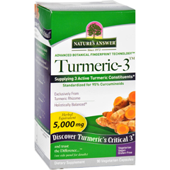 HGR1620210 - Nature's AnswerNatures Answer Turmeric-3 - 90 Vegetarian Capsules