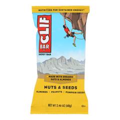 HGR1620848 - Clif Bar - Nuts & Seeds - Almonds Peanuts Pumpkin Seed - Case of 12 - 2.4 oz.
