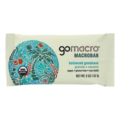 HGR1622448 - Gomacro - Organic Macrobar - Granola with Coconut - 2 oz.. Bars - Case of 12