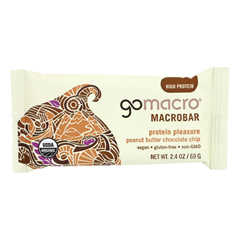 HGR1622471 - Gomacro - Organic Macrobar - Peanut Butter Chocolate Chip - 2.5 oz.. Bars - Case of 12