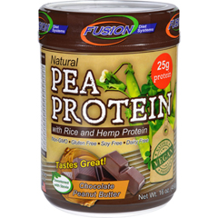 HGR1623636 - Fusion Diet SystemsPea Protein - Natural - Chocolate Peanut Butter - 16 oz