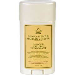 HGR1623768 - Nubian HeritageDeodorant - All Natural - 24 Hour - Indian Hemp and Haitian Vetiver - with Neem Oil - 2.25 oz