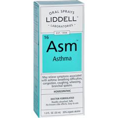 HGR1626464 - Liddell HomeopathicAsthma - Asm - Oral Spray - 1 oz