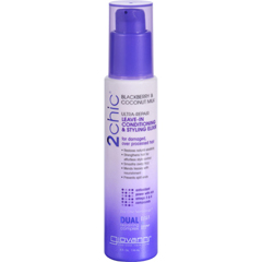 HGR1626746 - Giovanni Hair Care ProductsLeave-In Conditioning and Styling Elixir - 2chic - Repairing - Blackberry and Coconut Milk - 4 oz
