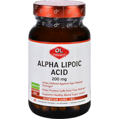 HGR1626852 - Olympian LabsAlpha Lipoic Acid - 200 mg - 60 Vegetarian Capsules