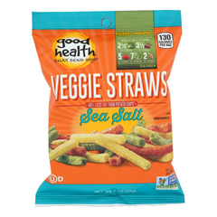 HGR1627017 - Good Health - Veggie Straws - Sea Salt - Case of 24 - 1 oz..