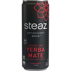 HGR1628072 - Steaz - Energy Drink - Super Fruit - Case of 12 - 12 oz..