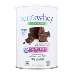HGR1633049 - Tera's WheyProtein - rBGH Free - Fair Trade Dark Chocolate - 24 oz