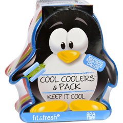 HGR1636547 - Fit and FreshIce Packs - Cool Coolers - Multicolored Penguin - 4 Count