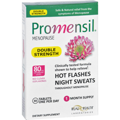 HGR1637230 - PromensilMenopause - Double Strength - Relief Hot Flashes Night Sweats - 30 Tablets