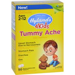 HGR1637347 - Hyland'sHomeopathic Tummy Ache - 4 Kids - 50 Quick-Dissolving Tablets