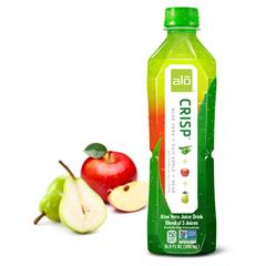 HGR1638089 - Alo - Original Crisp Aloe Vera Juice Drink - Fuji Apple and Pear - Case of 12 - 16.9 fl oz..