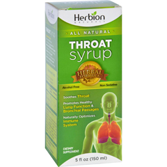 HGR1638188 - Herbion NaturalsThroat Syrup - All Natural - 5 oz
