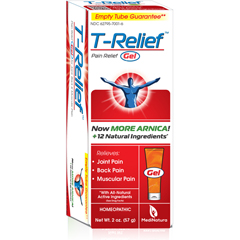 HGR1641257 - T-ReliefPain Relief Gel - Arnica plus 12 Natural Ingredients - 1.76 oz