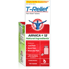 HGR1641273 - T-ReliefPain Relief Tablets - Arnica plus 12 Natural Ingredients - 100 Tablets
