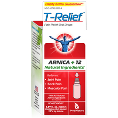 HGR1641281 - T-Relief - Pain Relief Oral Drops - Arnica plus 12 Natural Ingredients - 1.69 oz