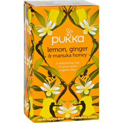 HGR1642008 - Pukka HerbsHerbal Teas Tea - Organic - Lemon Ginger and Manuka Honey - 20 Bags - Case of 6