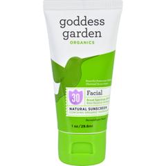 HGR1642230 - Goddess GardenSunscreen - Counter Display - Organic - Facial - SPF 30 - Tube - 1 oz