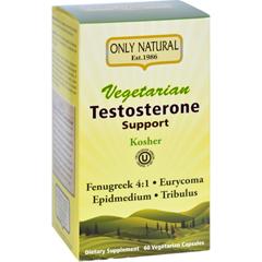 HGR1642982 - Only NaturalTestosterone Support - Vegetarian - 60 Vegetarian Capsules