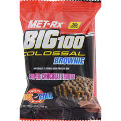 HGR1643519 - Met-RxMeal Replacement Bar - Big 100 Colossal Brownie - Super Chocolate Fudge - 3.52 oz - Case of 9