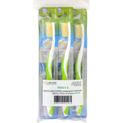HGR1645092 - Mouth WatchersToothbrush Refill - A B - Adult - Green - 1 Count - Case of 5