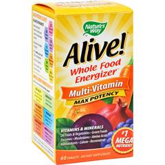 HGR0168096 - Nature's WayAlive Multi-Vitamin - 60 Tablets