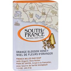 HGR1684430 - South of FranceBar Soap - Orange Blossom Honey - Travel - 1.5 oz - Case of 12