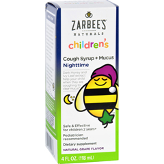 HGR1687011 - Zarbee'sCough Syrup and Mucus Reducer - Childrens - Nighttime - 4 oz