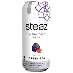 HGR1687342 - Steaz - Zero Calorie Green Tea - Blackberry - Case of 12 - 16 Fl oz..
