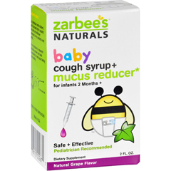 HGR1689835 - Zarbee'sCough Syrup and Mucus Reducer - Baby - 2 oz