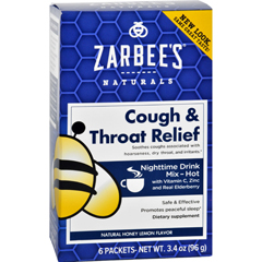 HGR1689850 - Zarbee'sCough and Throat Relief Drink Mix - Nighttime Supplement - 6 Packets