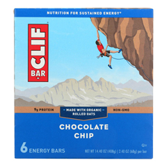 HGR1690767 - Clif Bar - Energy Bar - Chocolate Chip - Case of 9 - 6/2.4oz.
