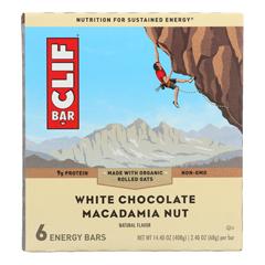 HGR1690866 - Clif Bar - Energy Bar - White Chocolate Macadamia Nut - Case of 9 - 6/2.4oz.
