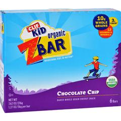 HGR1690882 - Clif BarClif Kid Zbar - Organic - Chocolate Chip - 7.62 oz - Case of 12