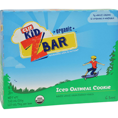 HGR1690916 - Clif BarClif Kid Zbar - Organic - Iced Oatmeal Cookie - 7.62 oz - Case of 12