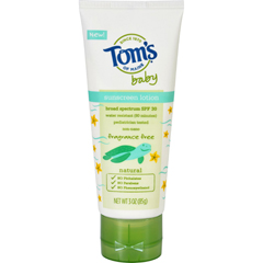 HGR1694462 - Tom's of MaineToms of Maine Sunscreen - Baby - Fragrance Free - 3 oz - Case of 6