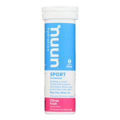HGR1698471 - Nuun Hydration - Nuun Active - Citrus Fruit - Case of 8 - 10 Tablets
